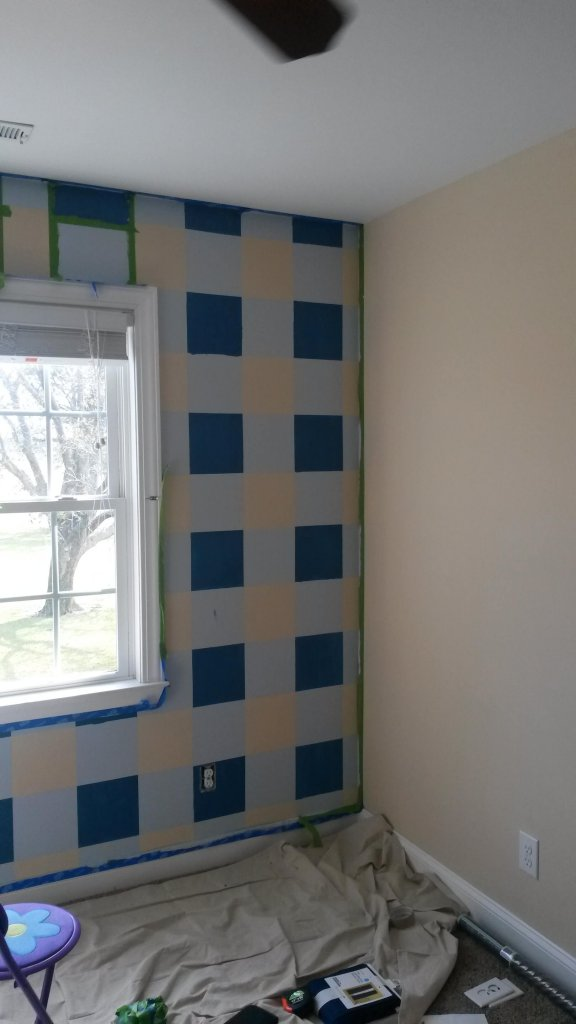 painted plaid wall