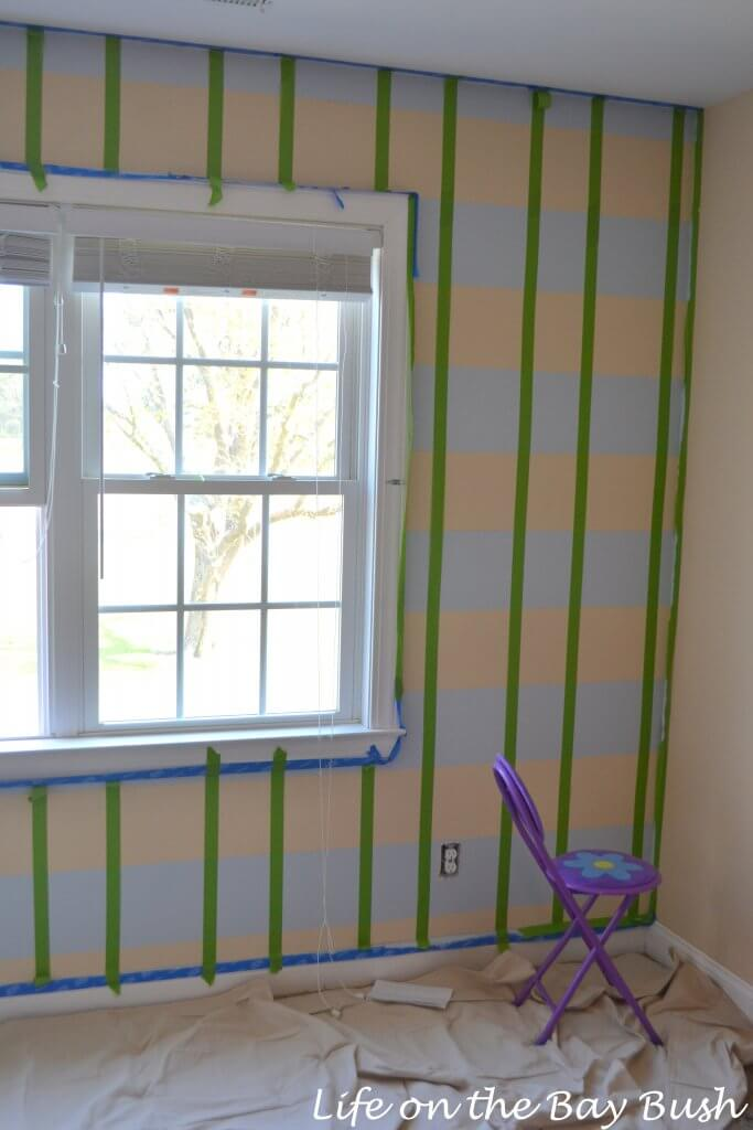 painting a plaid wall