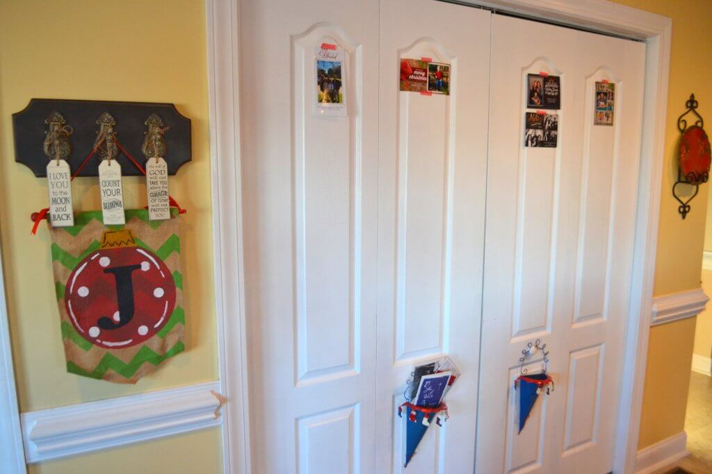 Here's an easy way to display Christmas cards. Tape them to your pantry door with Washi tape.