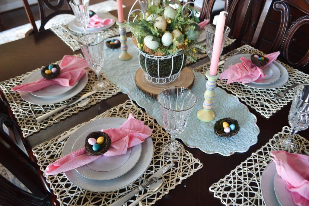 Simple Easter Tablescape