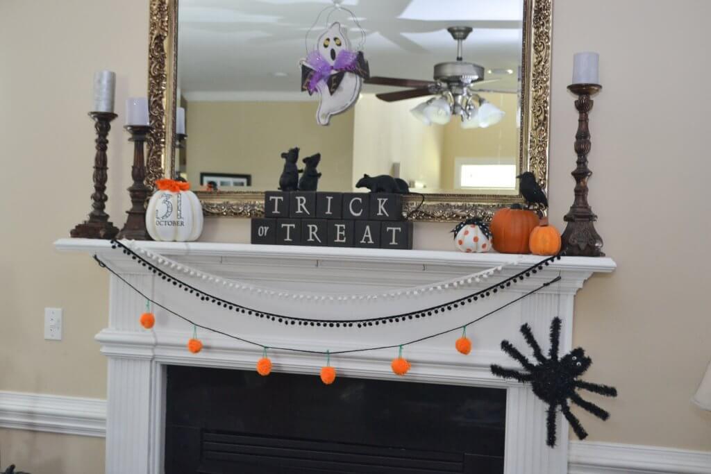 Fun Little Halloween Mantel