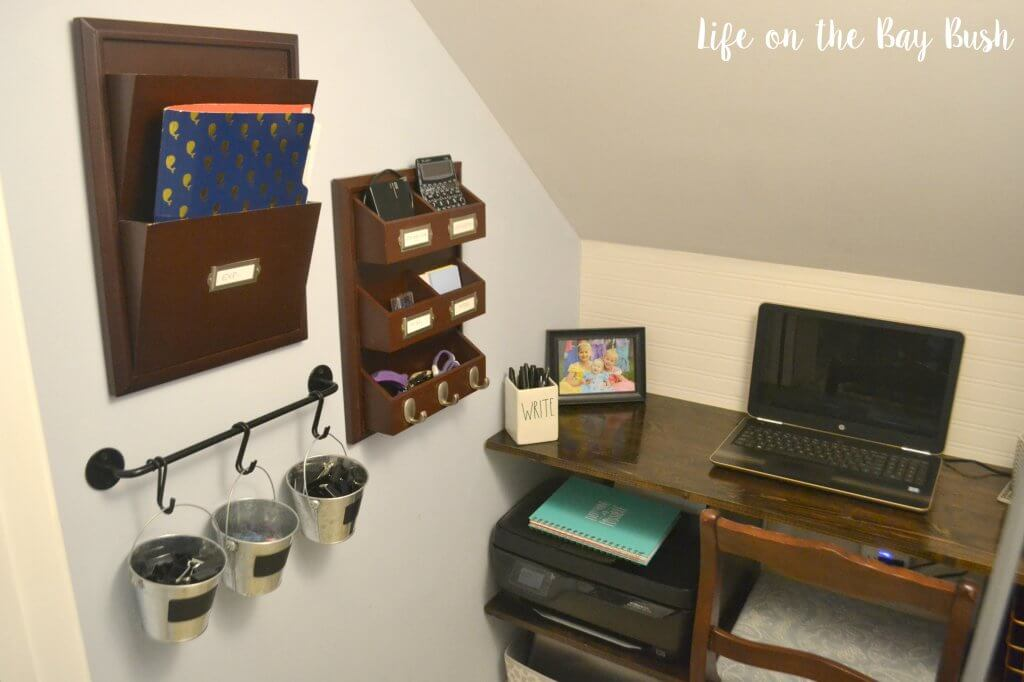 Cluttered Closet to Cute Cloffice! Great idea to turn a closet into an office!