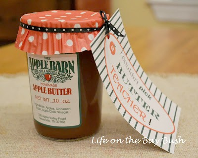 Buttering Up Teacher {Teacher Gift Idea & Free Printable}